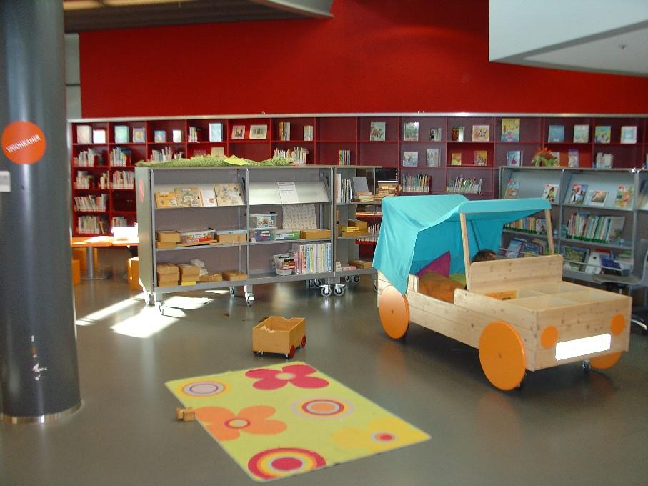 Bibliotheek Heerhugowaard – dětské oddělení, část pro menší děti