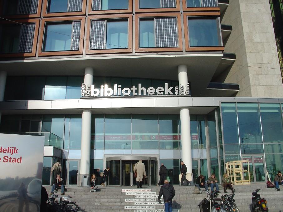 Openbare Bibliotheek Amsterdam – průčelí knihovny