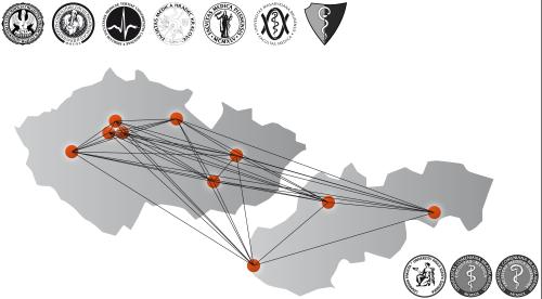 Obr. 1: Na projektu MEFANET spolupracuje deset českých a slovenských lékařských fakult