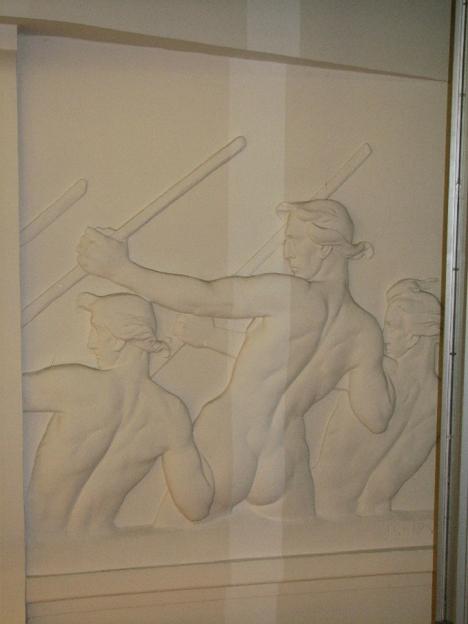 Jeden z reliéfů od Ladislava Šalouna