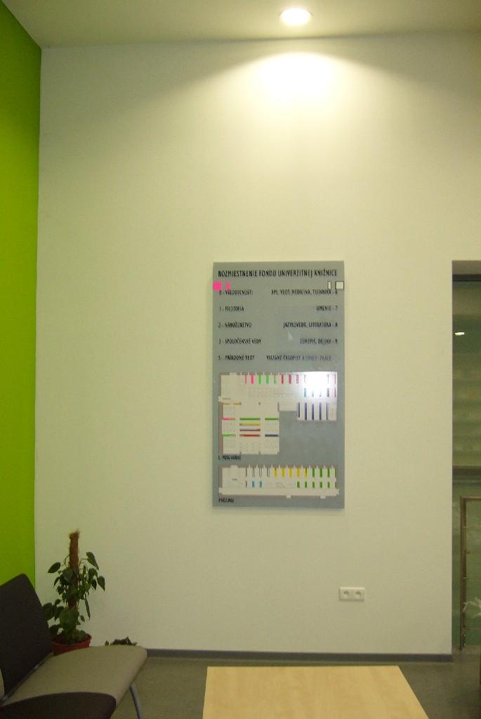 Orientačná tabuľa rozmiestnenia fondu podľa MDT