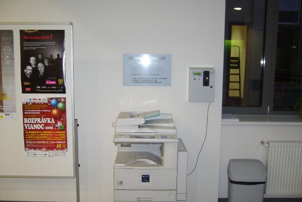 Kopírovacie zariadenie pre študentov