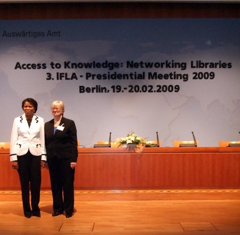 Budoucí a současná předsedkyně IFLA