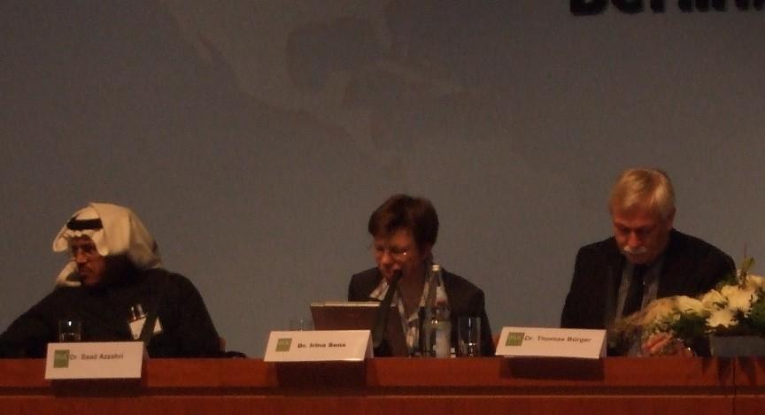 První tematický blok – zleva dr. Saad Azzahri, dr. Irina Sensová a dr. Thomas Bürger