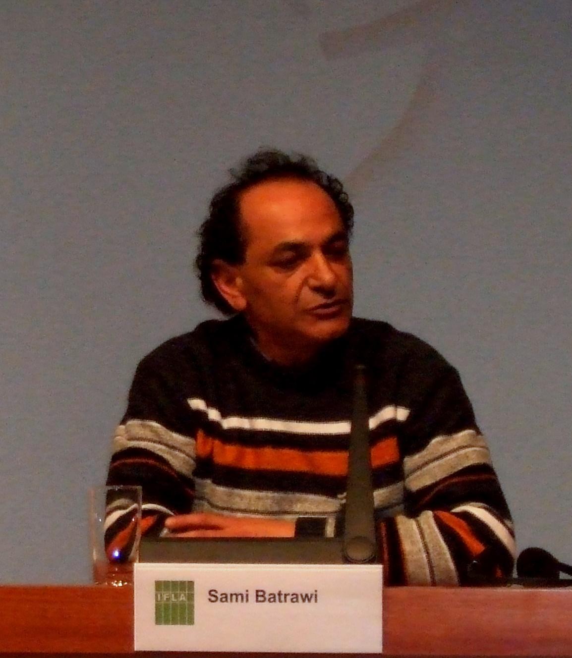 Palestinský ministr kultury Sami Batrawi