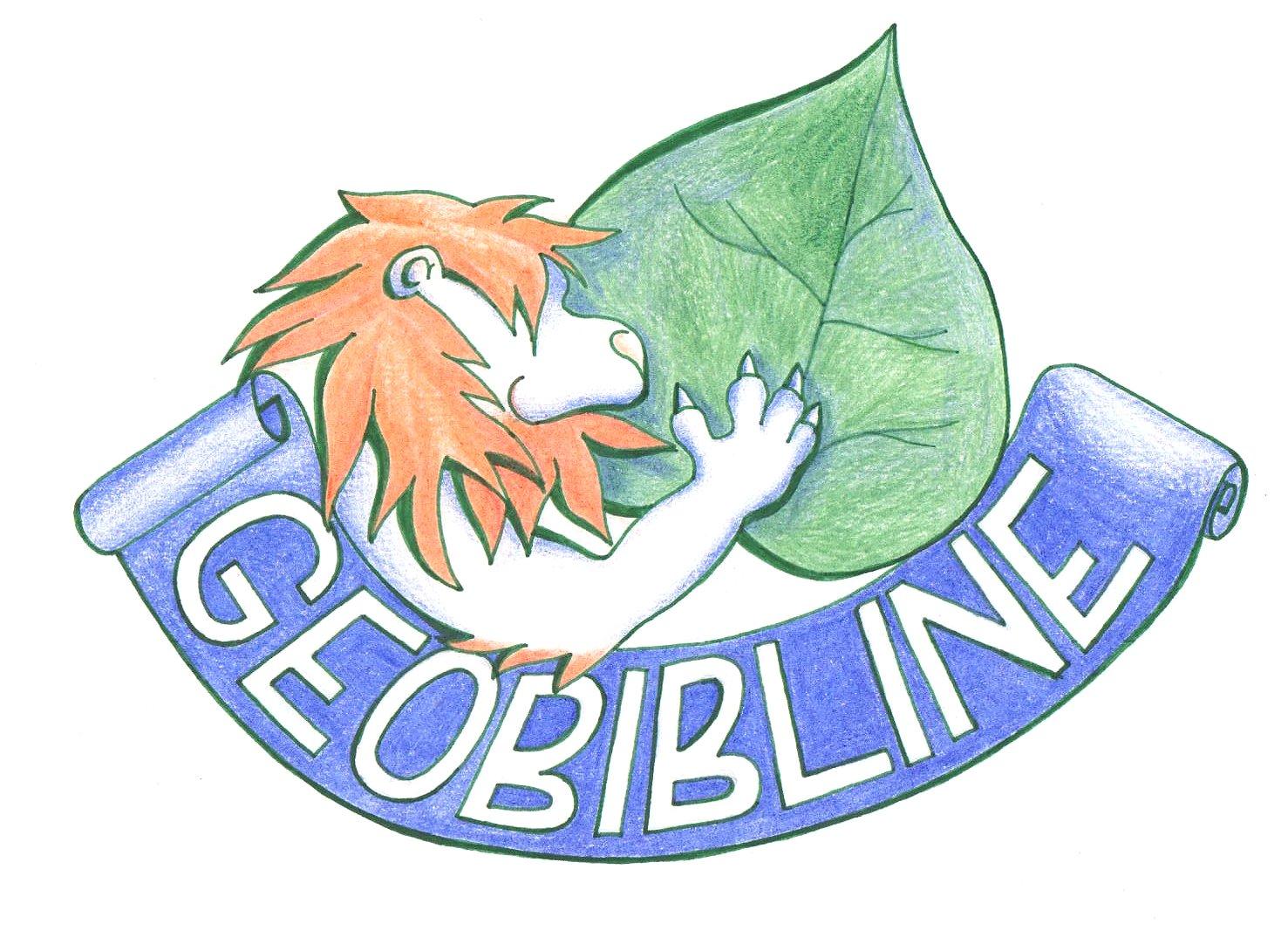 Logo GEOBIBLINE (autorka Denisa Cirmaciová)