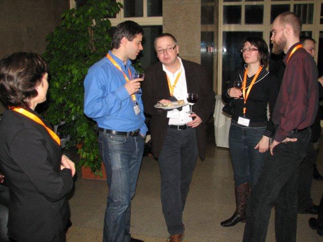 Část české výpravy na BOBCATSSS 2009 (zleva Lenka Hvězdová, Martin Souček, Richard Papík, Kateřina Pojerová a Jakub Štogr)