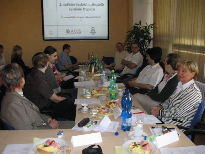 Účastníci setkání uživatelů systému DSpace