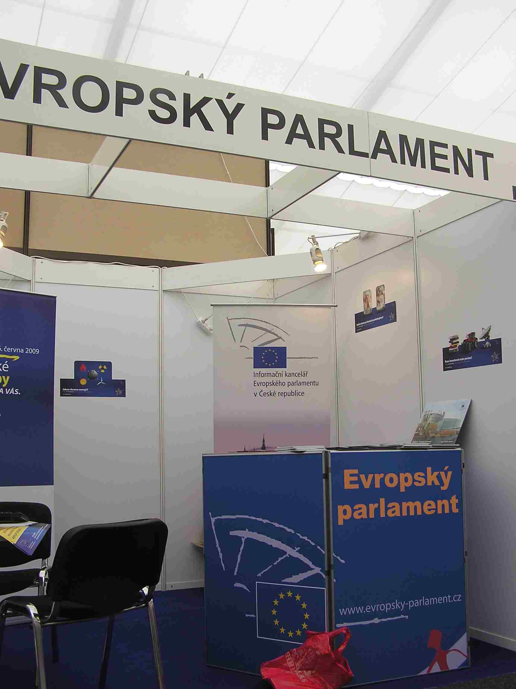 Obr. 17: Veletržní stánek Evropského parlamentu