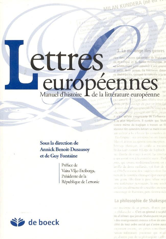 Obr. 4: Učebnice dějin evropské literatury Lettres européennes : manuel d'histoire de la littérature européenne