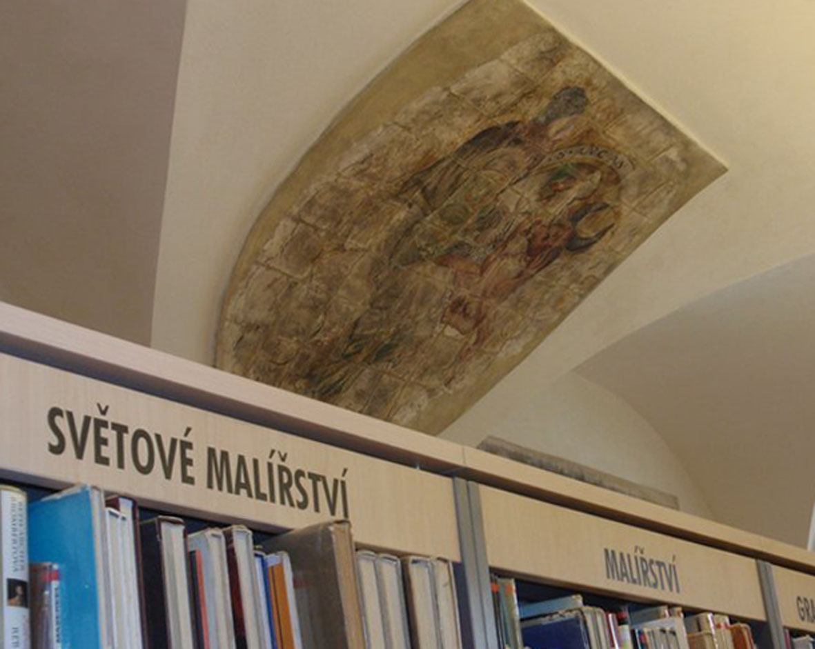 Jedna ze zrekonstruovaných renesančních fresek (autor Bára Bjačková)