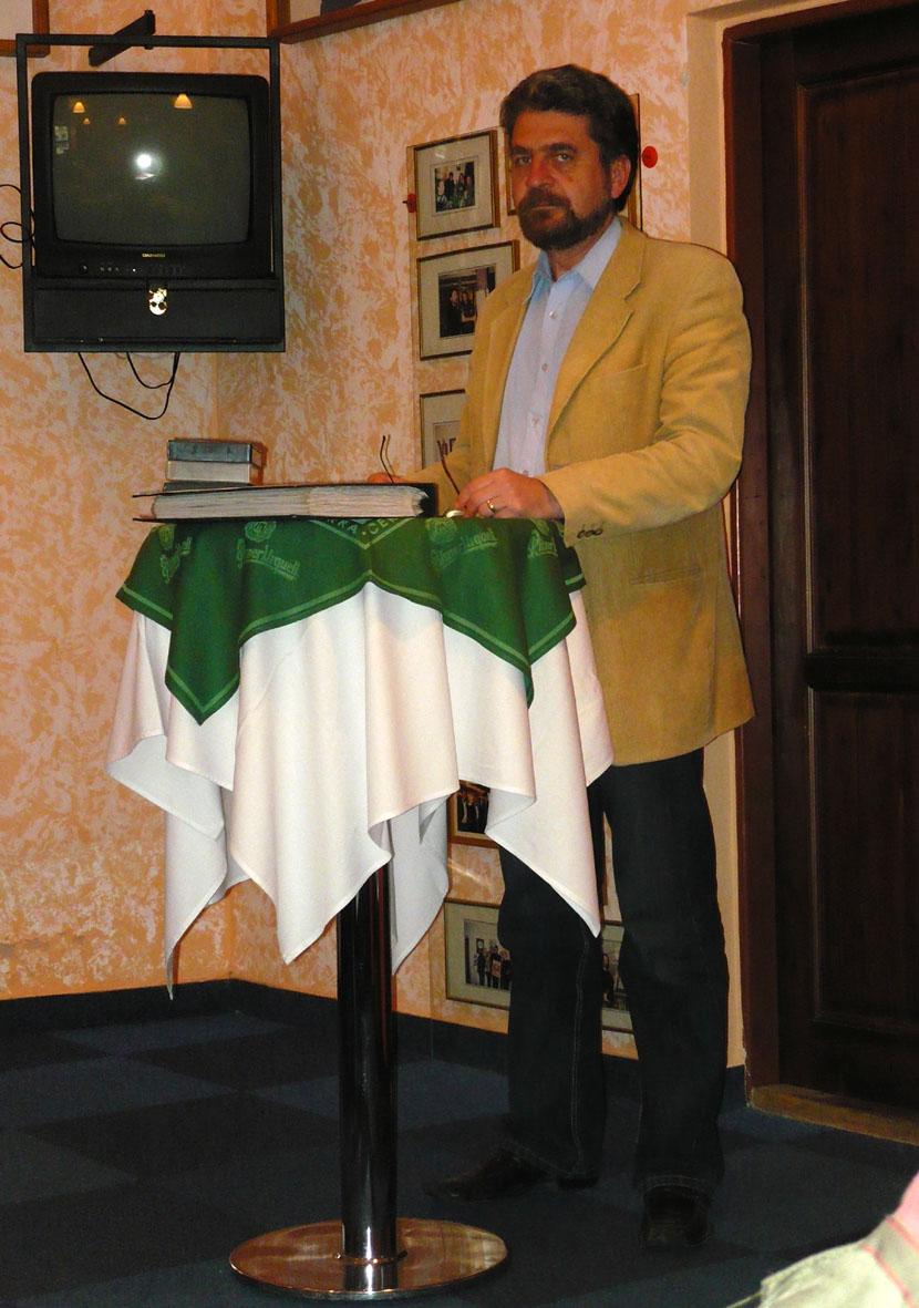 Přednášející Jan Koten (autor Eliška Svobodová)