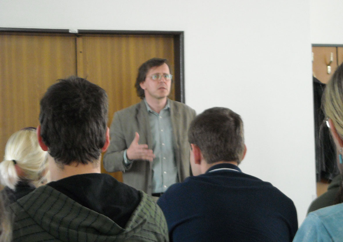 Přednáška o činnosti střediska Teiresiás (autor Tereza Heinová)