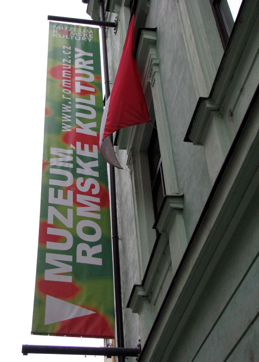 Budova Muzea romské kultury (autor Zuzana Rousková)