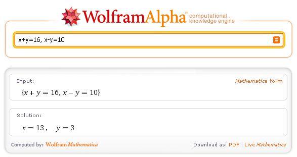 Obr. 2 - Výsledek matematického dotazu