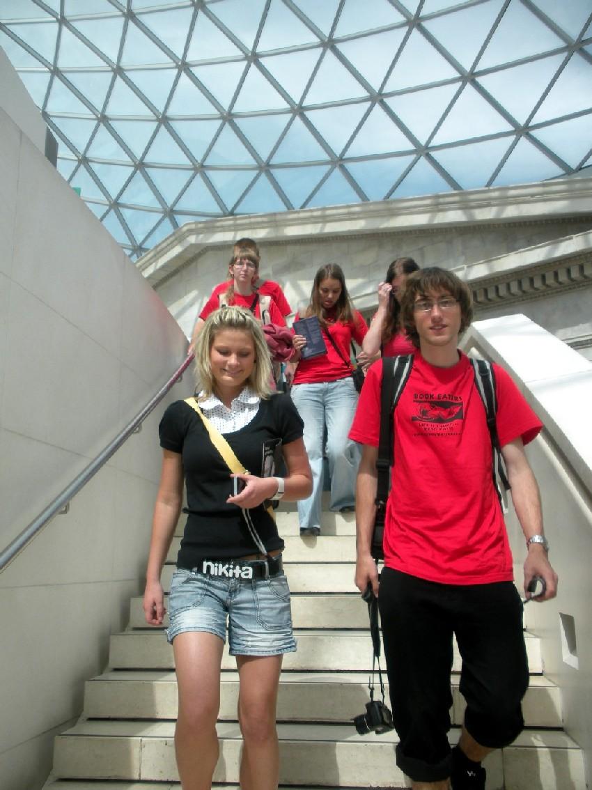 Obcházení Kruhové čítárny v Britském muzeu