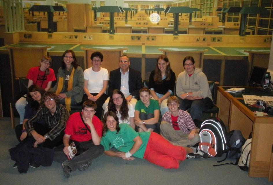 Vyhlídková galerie nad studovnami v Britské knihovně