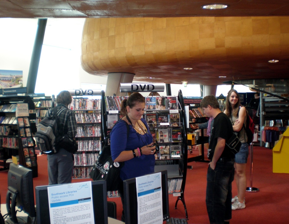 Studenti z Tábora v Knihovně v Peckhamu