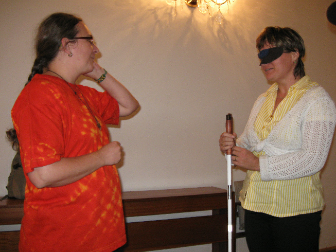 Nácvik komunikace s nevidomým