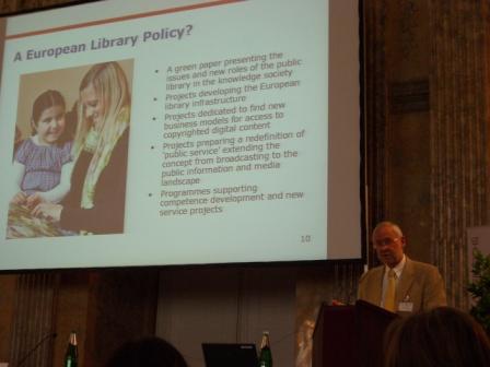 J. Thorhauge z Dánska, jeden z iniciátorů úsilí o evropskou politiku pro knihovny