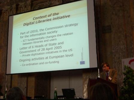 Europeana a další veřejně přístupné digitální knihovny jsou prioritou Evropské komise v oblasti médií  (Y. Volman)