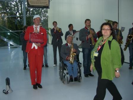 Účastníky konference vítal ve štýrskohradecké Městské hale řádný šraml