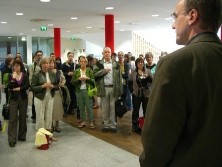 Účastníci konference na návštěvě v Hlavní knihovně Vídeňských veřejných knihoven