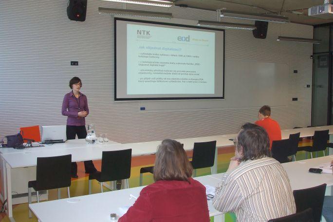 Krátká prezentace služby eBooks on Demand, která bude v NTK spuštěna začátkem roku 2010