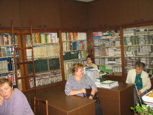 Prohlídka prostor knihovny