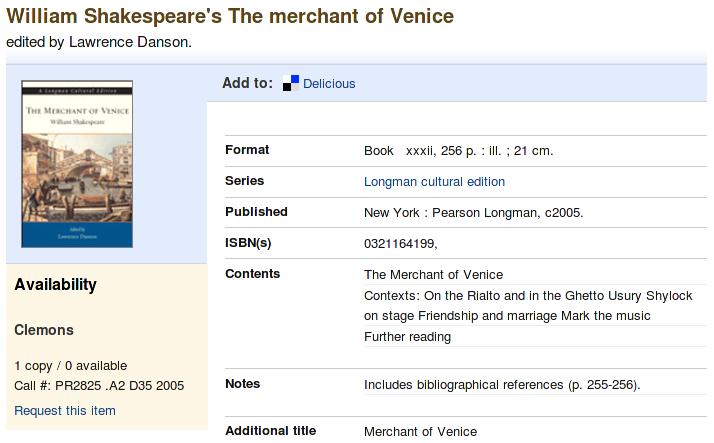 Obr. 4: Ukázka zobrazení úplného záznamu v systému VIRGObeta