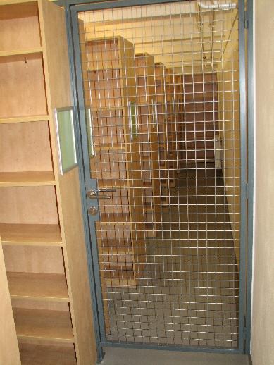 Zabezpečený prostor pro uložení vzácných knih
