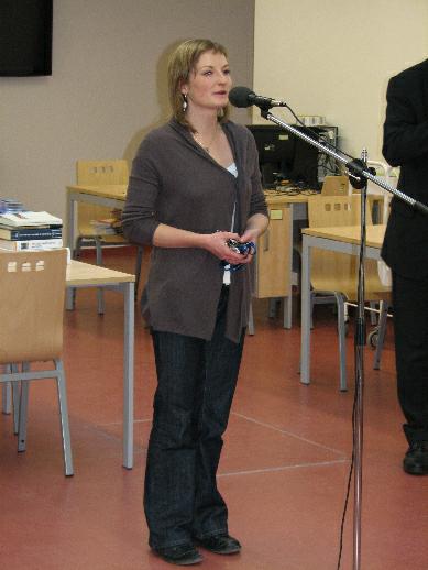 Vlastní prohlídku zahájila ředitelka knihovny Šárka Frantová