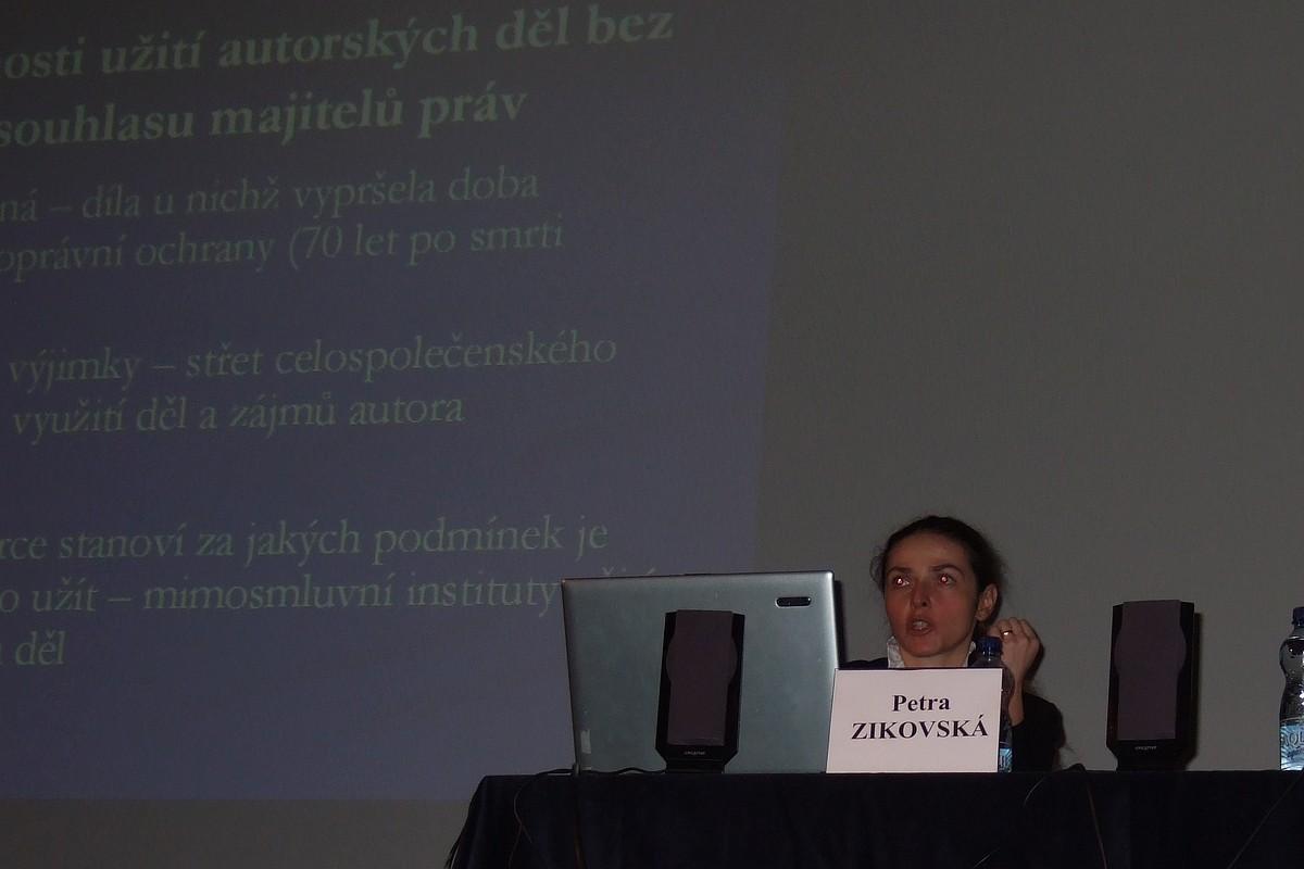 Prezentace Petry Žikovské z Mezinárodní federace fonografických nakladatelů