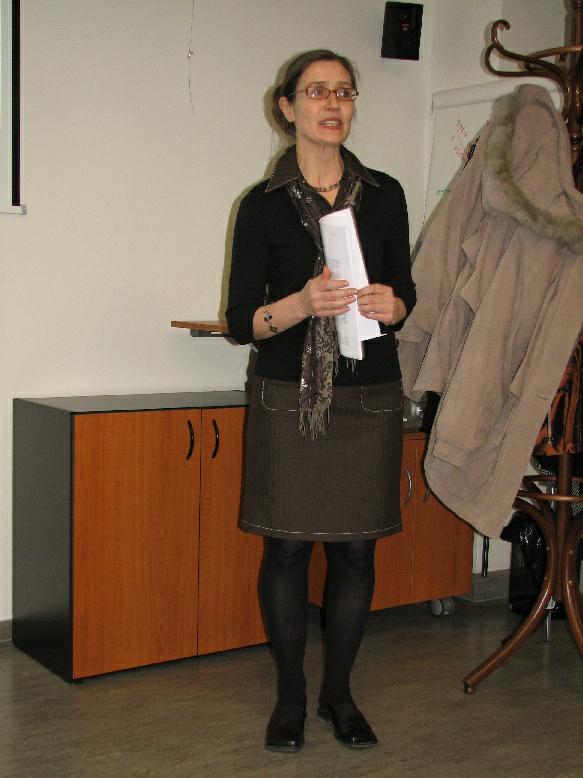 Lucie Wittlichová při výkladu o ICV
