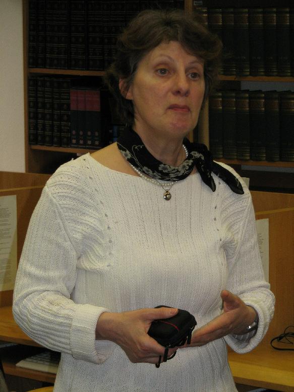 Verona Miletinova, vedoucí knihovny