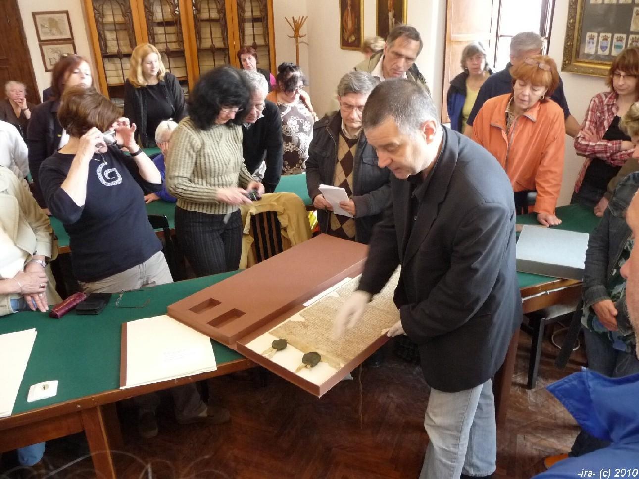Ve studovně Státního archivu v Dubrovníku