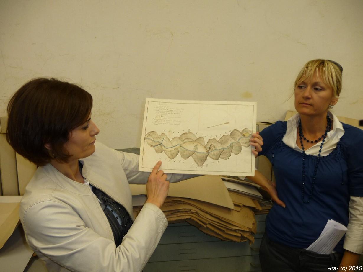 Návštěva depozitáře map ve Státním archivu  v Zadaru