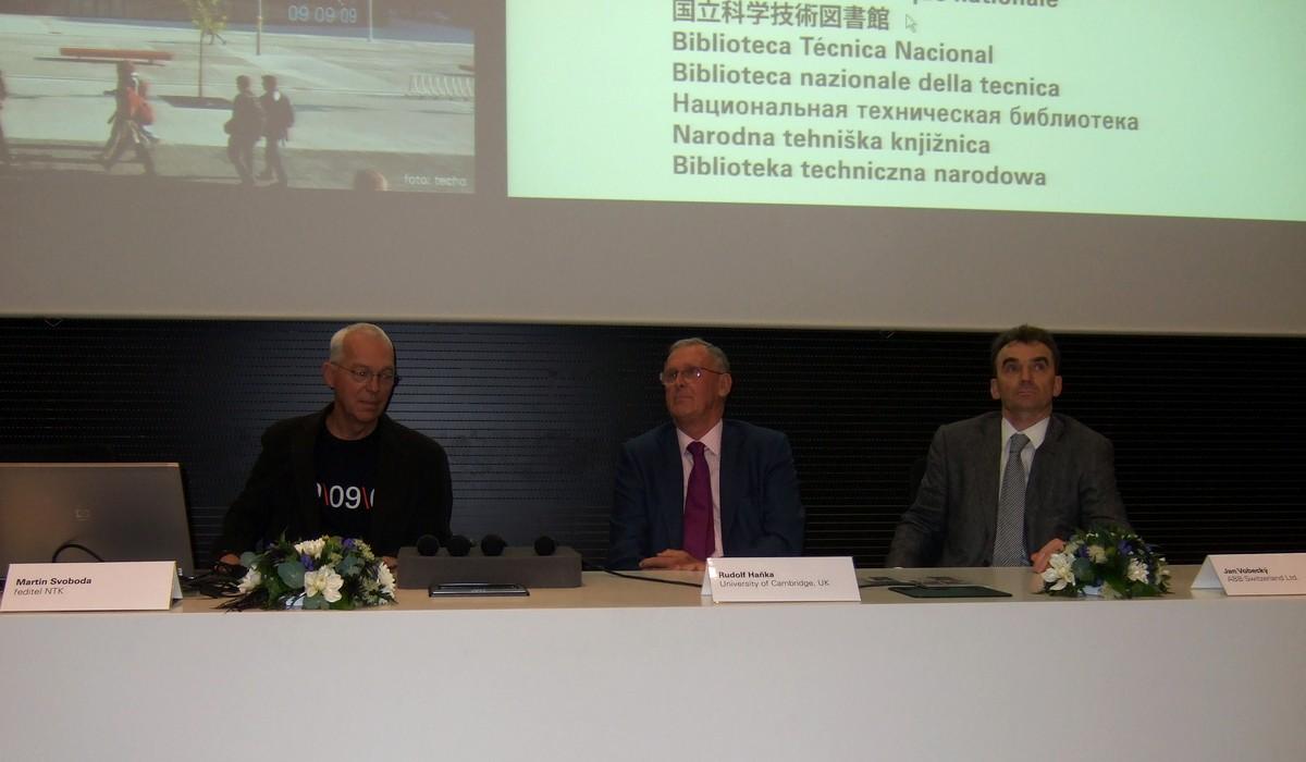 Tiskové konference se zúčastnili Martin Svoboda, Rudolf Haňka a Jan Vobecký