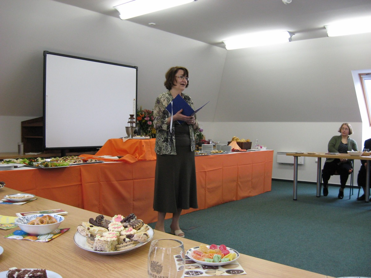 Hana Študentová na přednášce