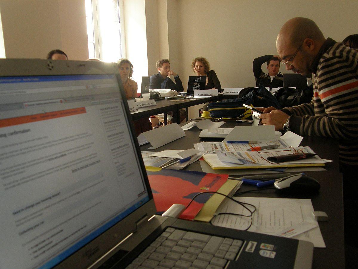 Obr. 1: První pracovní setkání v Portugalsku