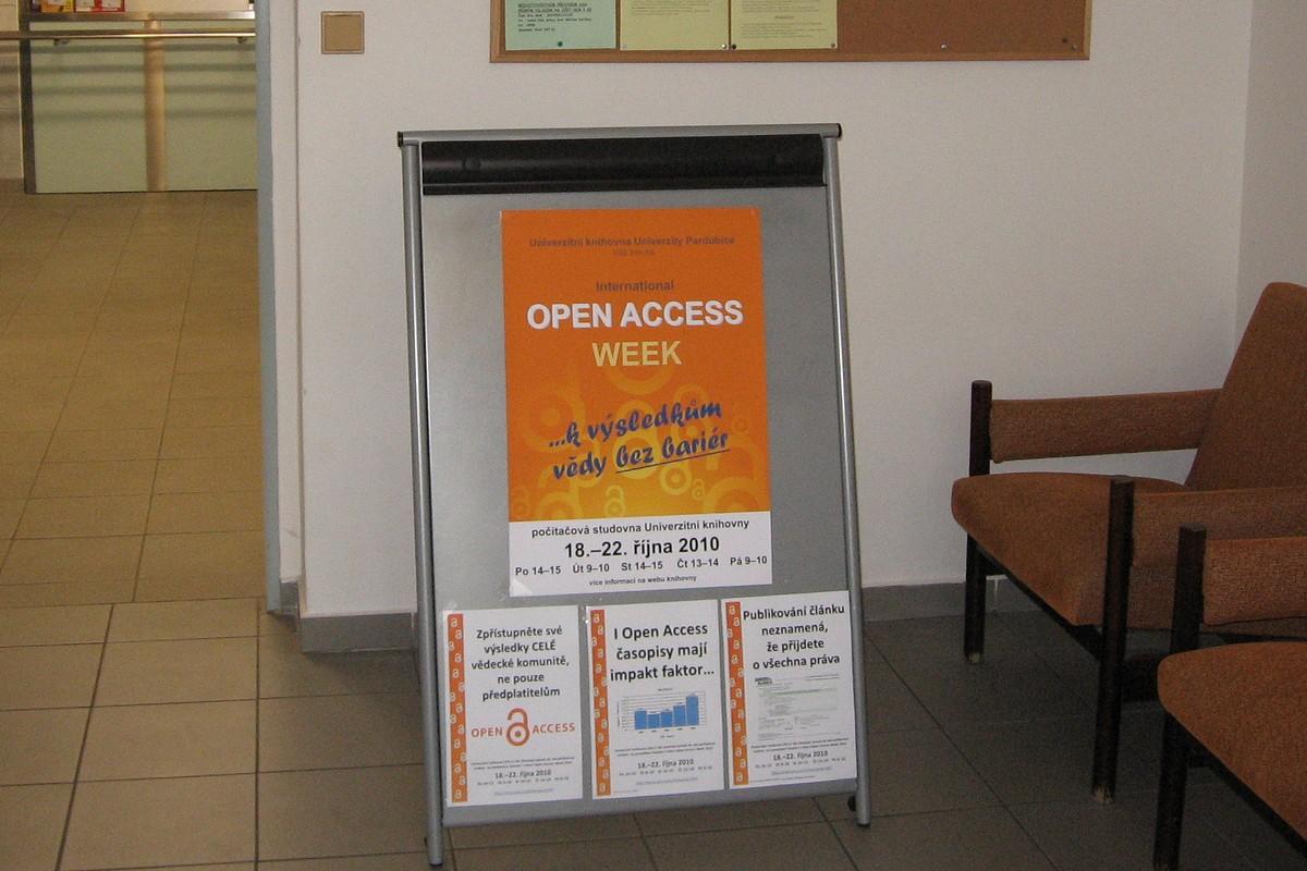Informační materiály k Open Access Week v Pardubicích