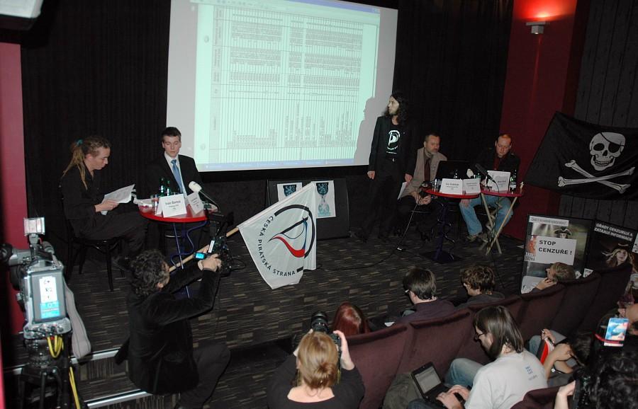 Tisková konference České pirátské strany