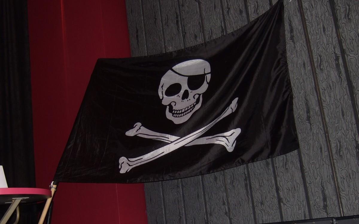 Detail pirátské vlajky