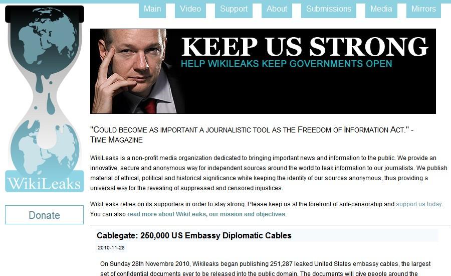 Webové stránky WikiLeaks