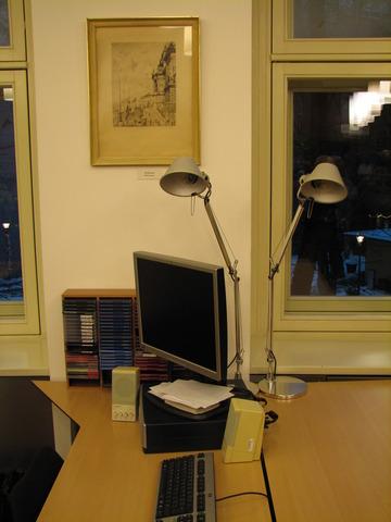 Studijní místo s počítačem