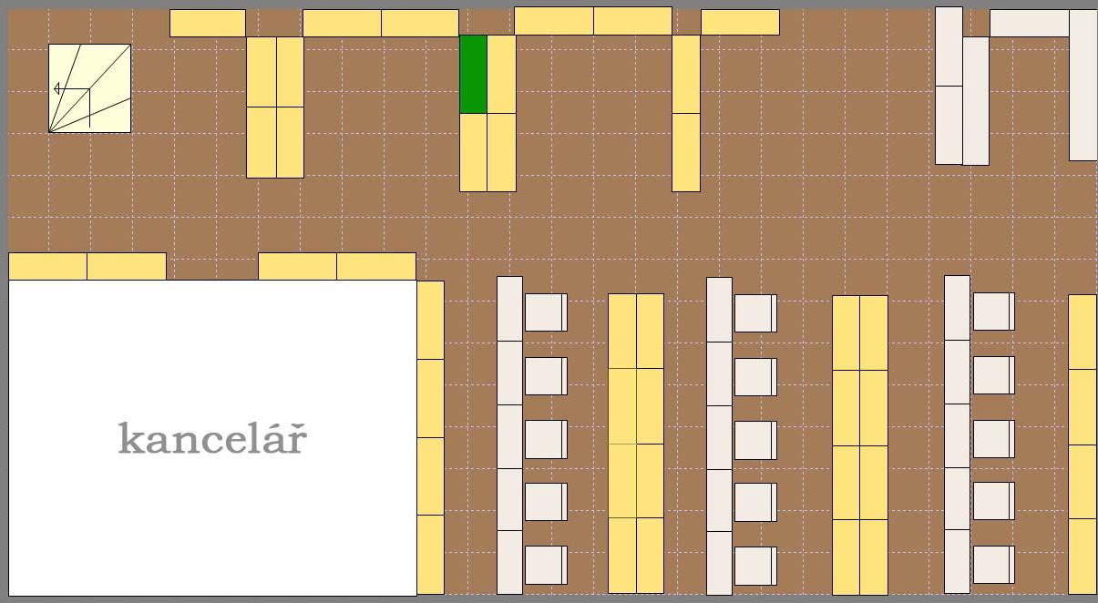 Obr.4: Plánek umístění konkrétní signatury ve 2D zobrazení