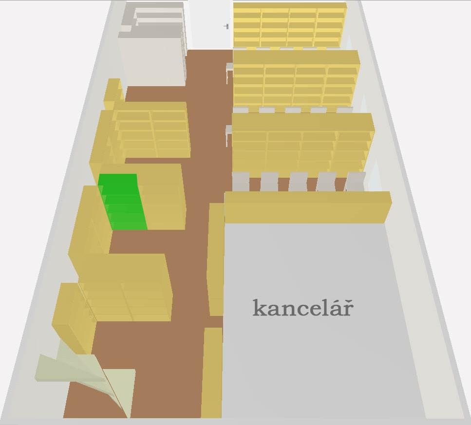 Obr.5: Plánek umístění konkrétní signatury ve 3D zobrazení