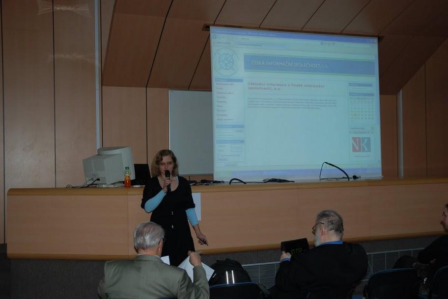Radka Římanová zahajuje konferenci IKI 2011