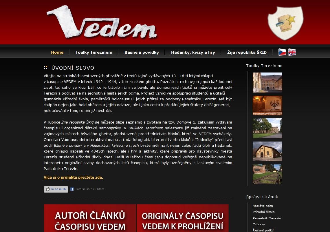 Webové stránky www.vedem-terezin.cz