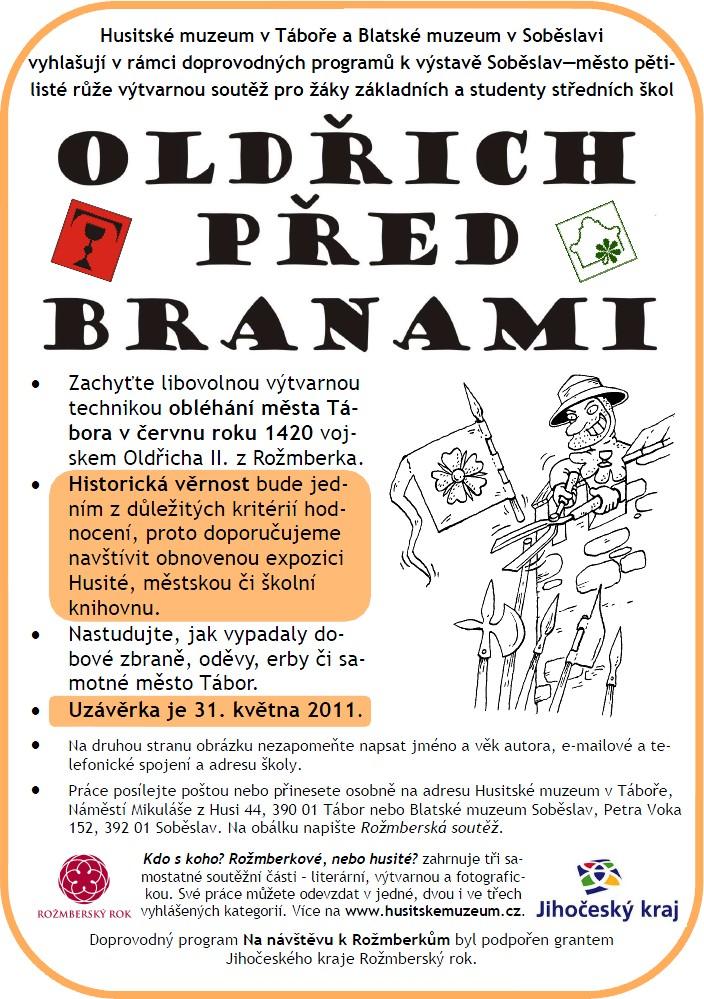 Plakát k souteži Oldřich před branami